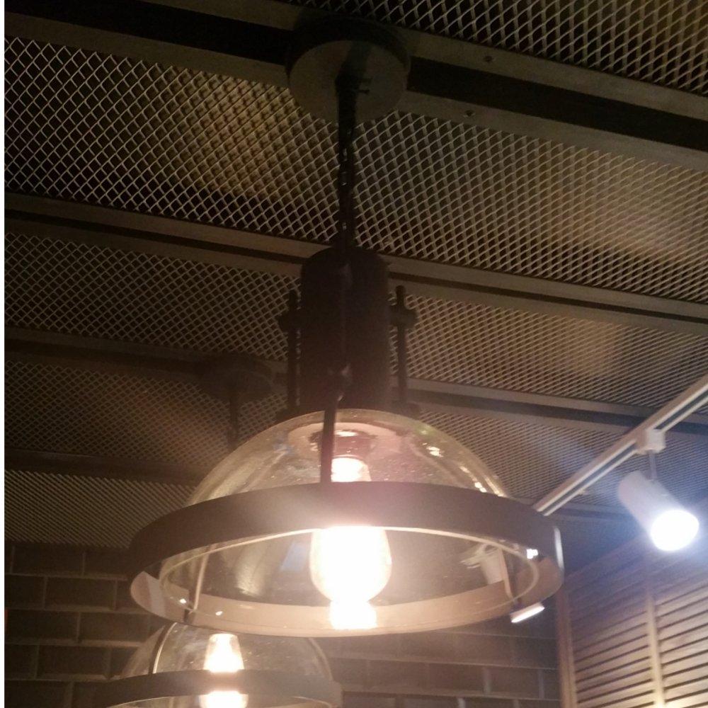 pendul industrial cu bec Edison
